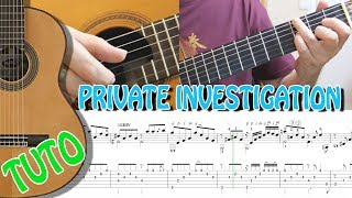 TUTO - PRIVATE INVESTIGATION - FINGERSTYLE SPANISH GUITAR