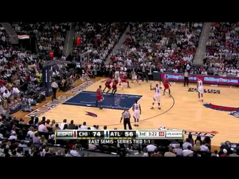NBA Playoffs 2011: Chicago Bulls Vs Atlanta Hawks Game 3 Highlights (2-1) Rose 44 pts