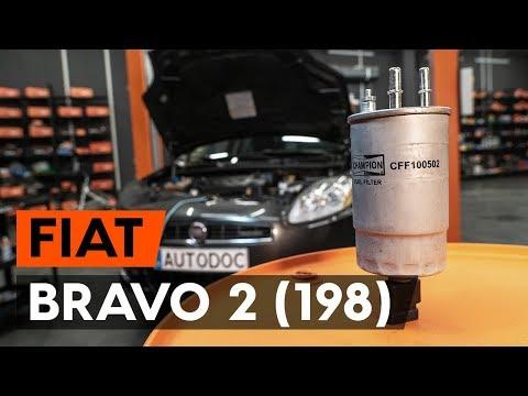 Как да сменим горивен филтър наFIAT BRAVO 2 (198) (ИНСТРУКЦИЯ AUTODOC)