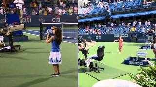 getlinkyoutube.com-Kaitlyn Maher - 8yo - National Anthem at Citi Classic Tennis Tournament - Aug 3 & 5, 2012