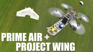 getlinkyoutube.com-Google Project Wing + Amazon Delivery drone | Flite Test