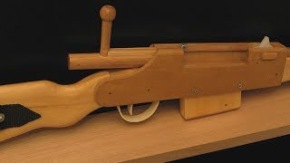 getlinkyoutube.com-[rubber band gun] Bolt-action rifle