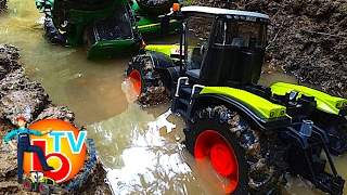 getlinkyoutube.com-BRUDER Toys traktor CLAAS Xerion in river