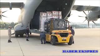 Türkiye'nin tıbbi yardımını İspanya ve İtalya'ya taşıyacan uçak havalandı
