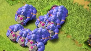 getlinkyoutube.com-Clash of Clans - All Max lvl 3 Bowlers MASS Attack! (CoC Dark Troop Update!)