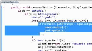 getlinkyoutube.com-Aplicaciones Moviles JAVA - Sesion 2 : J2ME Aplicacion Basica TexBox y List