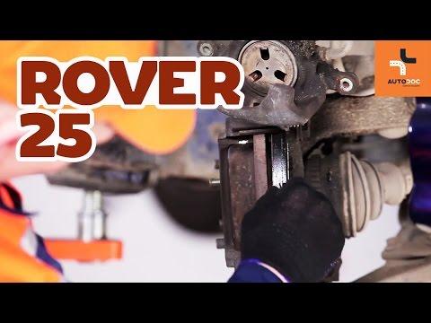 Wymiana przednie klocki hamulcowe Rover 25 | Tutorial HD