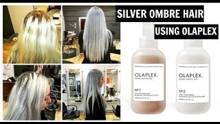getlinkyoutube.com-HOW TO:Bleach hair & Silver Grey Ombre Tutorial - Using Olaplex. NO DAMAGE