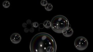 getlinkyoutube.com-Loopable Soap Bubbles Black Hd. Stock Footage