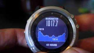 Garmin Fenix3 Storm Alert - Weather - Barometer