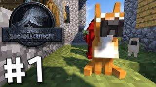 getlinkyoutube.com-Minecraft Jurassic World: Indominus Outpost - Follow The Trail #1