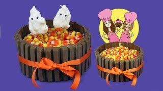 getlinkyoutube.com-Kit-Kat Halloween cake or thanksgiving - how to Tutorial by Charli's crafty kitchen