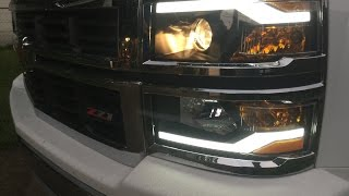 getlinkyoutube.com-Winjet Headlights w/DRL for 2014-2015 Chevrolet Silverado