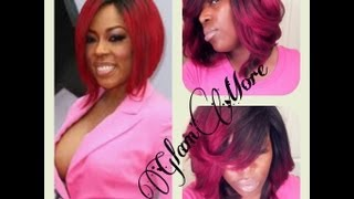 getlinkyoutube.com-K. Michelle Inspired (Red Ombre) Quickweave