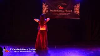 getlinkyoutube.com-Flaviana Astone 1st place International Competition amateur solo 7th Etna Belly Dance Festival