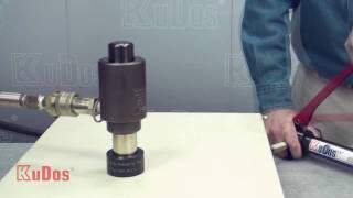 getlinkyoutube.com-KuDos® Hydraulic Power Puncher PNST-10