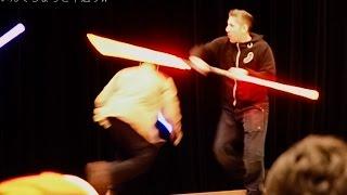 Ray Park with Lightsaver Sound Effect レイ・パークの演舞にライトセーバーの音をつけると予想以上にダースモールだったwwwww