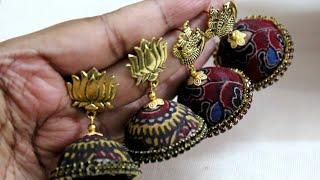 How to make Kalamkari Jhumka (Fabric)
