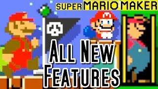 getlinkyoutube.com-Super Mario Maker ALL NEW FEATURES - Checkpoints, Amiibo & More (Wii U)