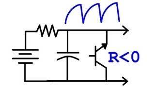 (#0093) World's Simplest Single Transistor Oscillator - BJT with Negative Resistance