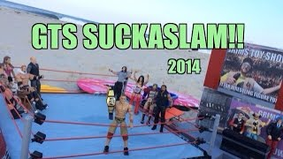getlinkyoutube.com-GTS WRESTLING: SuckaSlam!! WWE Wrestling Figure Matches Animation! Mattel Elites PPV Event!