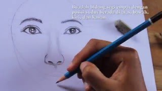 getlinkyoutube.com-Tutorial Menggambar Wajah Perempuan/How to draw female face step by step