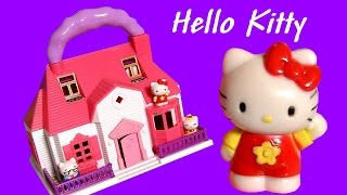 getlinkyoutube.com-HELLO KITTY Mini Doll Pool House Carry Along Playset ハローキティ   キティ・ホワイト Review