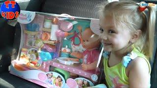 getlinkyoutube.com-✔ Nenuco Baby Doll. Girl Yaroslava is buying a Toy. Новая Кукла для Ярославы. Серия 39 ✔