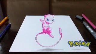getlinkyoutube.com-Desenhando Pokémon Mew em 3D - Top Rabiscos #1