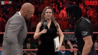 "WWE 2K17 Custom Scenario: Seth Rollins ""Hold Harmless Agreement"" Contract Signing! (RAW 3/27/2017)"