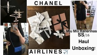 getlinkyoutube.com-HAUL: CHANEL AIRLINES ✈️ (SS16) UNBOXING // Chevron WOC, and more! 😁