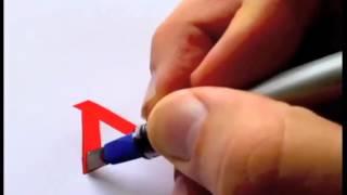 Парень круто рисует логотипы известных брендов [Часть 1]