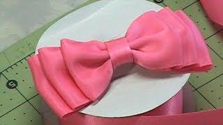 getlinkyoutube.com-DIY Make Hair Bow, Ribbon bow, Bow Tie, Tutorial #1, DIY