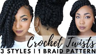 getlinkyoutube.com-Senegalese Crochet Twists: Easy Braid Pattern For Natural & Versatile Protective Styling