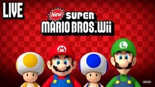 getlinkyoutube.com-New Super Mario Bros. Wii 100% Live Stream
