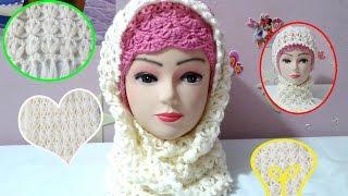 getlinkyoutube.com-شرح سكارف كورشيه بغرزة الياسمين -  how to : Scarf crochet stitch Jasmine