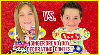 getlinkyoutube.com-GINGERBREAD BOY COOKIE DECORATING CONTEST! HOLIDAY GINGERBREAD DECORATING KIT REVIEW BY PLP TV