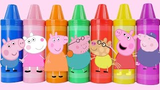 getlinkyoutube.com-Learn Colors Play Doh Peppa Pig Creations with Play Doh Molds Fun & Creative for Kids