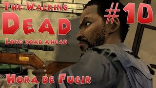 getlinkyoutube.com-The Walking Dead - The Walking dead Game Ep. 3 Long Road Ahead - Hora de Fugir