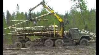 getlinkyoutube.com-Ural 4320 Урал лесовоз
