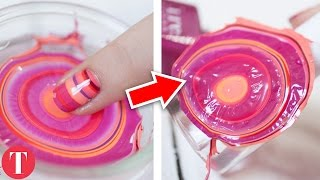 10 Most Amazing DIY Nail Art HACKS