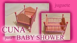 getlinkyoutube.com-Cómo hacer una CUNA recuerdo BABY SHOWER / JUGUETE / TUTORIAL Inerya viris