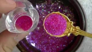 getlinkyoutube.com-Mi mezcla de glitters Princesa / Diseño romántico de uñas /febrero 2017/ Luliz nails