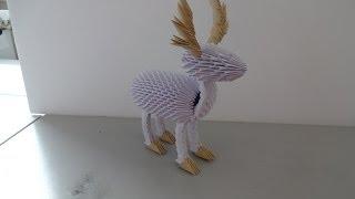 getlinkyoutube.com-3D Origami Reindeer Tutorial