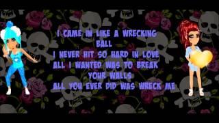 getlinkyoutube.com-Miley Cyrus Wrecking Ball Msp / Version Lyrics