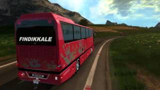 getlinkyoutube.com-Euro Truck Simulator 2 Bus trip to Perugia with Turkish MB 0403 part1
