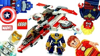 getlinkyoutube.com-LEGO® Avengers Marvel Super Heroes 76049 Avenjet Space Mission Speed Build w/ Iron Man v Thanos