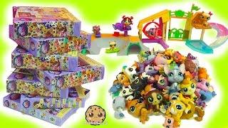getlinkyoutube.com-LPS Super Haul Littlest Pet Shop Box Sets - Skate Park & Bobblehead Family Pets