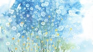 "getlinkyoutube.com-How to watercolor:  Even More dandelions!! Large format 22""x30"""