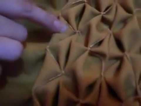 Almofada pneu em Capitonê (ponto copo-de-leite) - parte 2